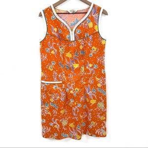Vintage 70's Komar for Leisurely Living Floral Day Dress S/M